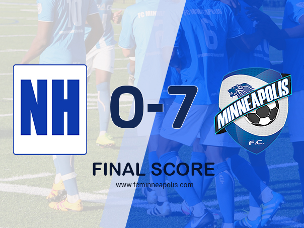 North Hennepin Community College falls as FC Minneapolis wins 0-7 in today's friendly match in Brooklyn Park.